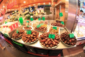 Dates filled with chocolate!